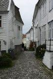 Stadsgata i Bergen Fotografering för Bildbyråer