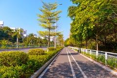 Stadsgata i ShenZhen Arkivfoto