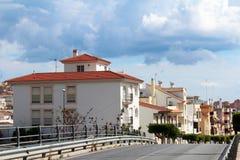 Stadsgatasikt i Malaga, Andalusia, Spanien Royaltyfri Fotografi