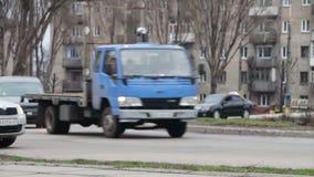Stadsgatatrafik lager videofilmer