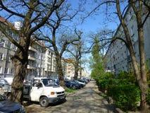 Stadsgator i Polen royaltyfria bilder