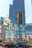 Stadsgebouwen op de straten van de dag van New York Royalty-vrije Stock Foto's