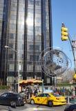 Stadsgebouwen op de straten van de dag van New York Royalty-vrije Stock Foto