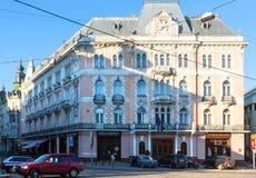 stadsgeorge hotell lviv ukraine Arkivbild