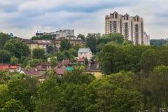 Stadsgezicht op heuvel Royalty-vrije Stock Fotografie