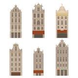 Stadsgezichten De architectuuroriëntatiepunt van Brussel Vlakke de reiselementen van het land van België Beroemde vierkante Grote vector illustratie