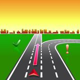 stadsgps planerar navigatörgator Royaltyfri Fotografi