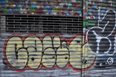 Stadsgraffiti Royalty-vrije Stock Foto's