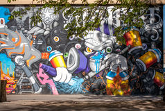 Stadsgrafitti Fotografering för Bildbyråer