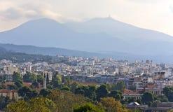 stadsgreece thessaloniki sikt Arkivbilder