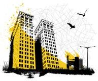 stadsgrunge stock illustrationer