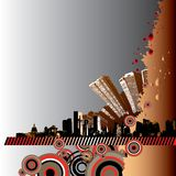 stadsgrungeillustration Arkivbild