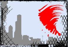 stadsgrungevektor stock illustrationer