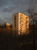stadsgryning Arkivfoton