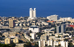 stadshaifa panorama Royaltyfri Foto