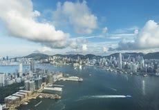 stadsHong Kong horisont royaltyfria foton