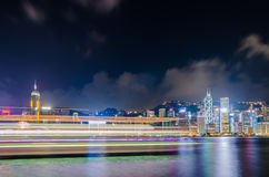 stadsHong Kong horisont Arkivfoton