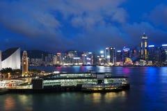 stadsHong Kong natt royaltyfria foton