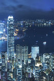 stadsHong Kong natt arkivbild