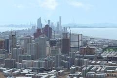 stadshorisont Arkivfoton