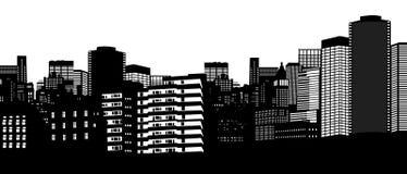 Stadshorisont Arkivbild