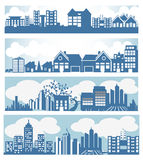 Stadshorisont vektor illustrationer