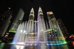Stadshorisont av Kuala Lumpur, Malaysia. Petronas tvillingbröder. Royaltyfri Fotografi