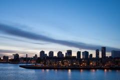 Stadshorisont av Rotterdam Arkivfoton