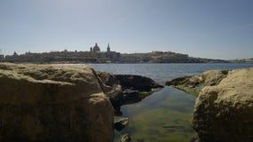 Stadshorisont, huvudstad av Malta, Europa stock video