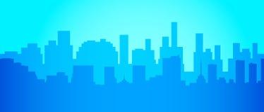 Stadshorisont i minimalist stil Konturlandskap också vektor för coreldrawillustration Arkivfoton