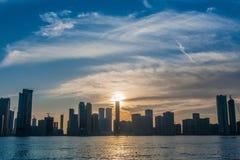 Stadshorisont Sharja UAE Royaltyfri Foto
