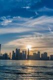 Stadshorisont Sharja UAE Royaltyfria Foton