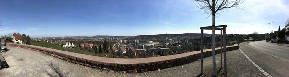 Stadshorisont Stuttgart royaltyfri fotografi