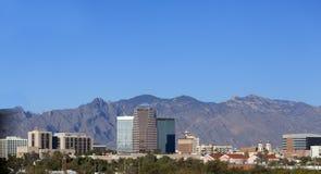 Stadshorisont, Tucson, AZ Fotografering för Bildbyråer