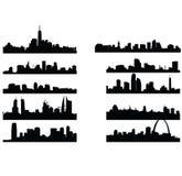 Stadshorisonter stock illustrationer