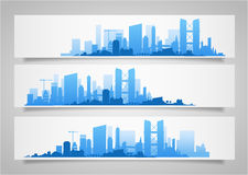 Stadshorisontuppsättningar Fotografering för Bildbyråer