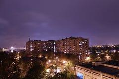 stadshorizon bij nacht Royalty-vrije Stock Foto