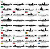 Stadshorizon het Arabisch Schiereiland en Afrika