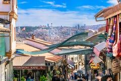 Stadshorizon van Ankara Turkije en lokale winkels Royalty-vrije Stock Foto