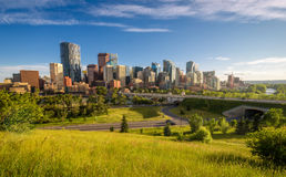 Stadshorizon van Calgary, Canada royalty-vrije stock foto's