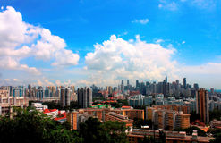 Stadshorizon van Singapore Royalty-vrije Stock Afbeelding