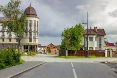 Stadshotel en herberg royalty-vrije stock afbeeldingen