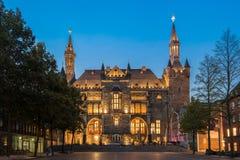 Stadshus av aachen, Tyskland Arkivbilder