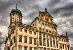 Stadshus av Augsburg, Tyskland, Bayern arkivbild