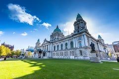 Stadshus av Belfast Arkivbild