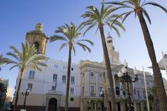 Stadshus av Cadiz. Arkivfoton