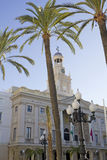 Stadshus av Cadiz. royaltyfria foton