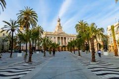 Stadshus av Cadiz, Spanien Fotografering för Bildbyråer