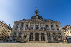 Stadshus av Chaumont, Haute-Marne, Frankrike Arkivfoto
