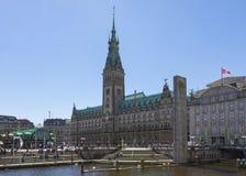 Stadshus av den fria och Hanseatic staden av Hamburg Arkivbild